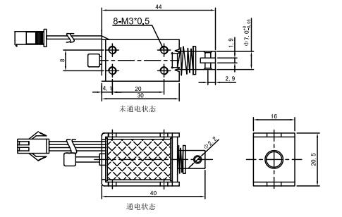 u0730l框架电磁铁